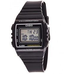 Reloj Casio digital W-215h-1av correa de resina color negra