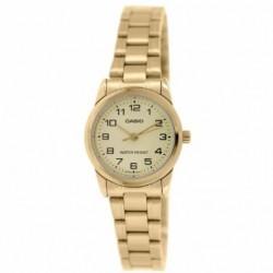 Reloj de Pulsera CASIO LTP-V001GL-9B Analógico para Mujer Color Dorado Correa Acero inoxidable dorado