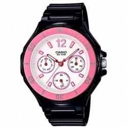 Reloj de Pulsera CASIO LRW-250H-1A3V Analógico para Mujer Color Rosa Correa Resina