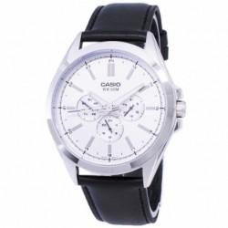 Reloj de Pulsera CASIO MTP-SW300D-7A Analógico para Hombre Color Plateado Correa Piel