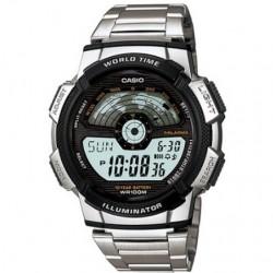 Reloj de Pulsera CASIO AE-1100WD-1A Digital para Hombre Color Plateado Correa Acero inoxidable