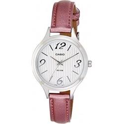 Reloj Casio mujer LTP-1393L7A plateado correa rosa