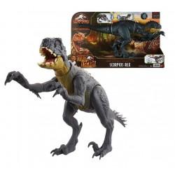 Dinosaurio Scorpios Rex Stinger Corta y Lucha HBT41 Jurassic World Matte Dino Escape Camp Cretaceus