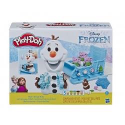 Olaf en trineo E5375 Frozen Play-Doh plastilina 5 botes de colores