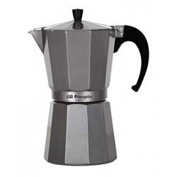 Cafetera Orbegozo aluminio KFS 620 6tazas Gas Electrico y vitro válvula de seguirdad