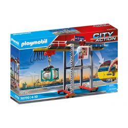 Playmobil 70770 Grúa con Contenedores