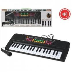Piano Órgano eléctrico con 37 teclas Micrófono Medidas: 46X17 cm