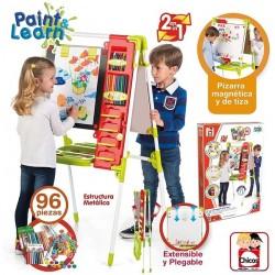 Chicos Artista Pizarra Infantil 2 en 1: Magnética y de Tiza Incluye 96 Accesorios edad +3 Años 62x60x120cm