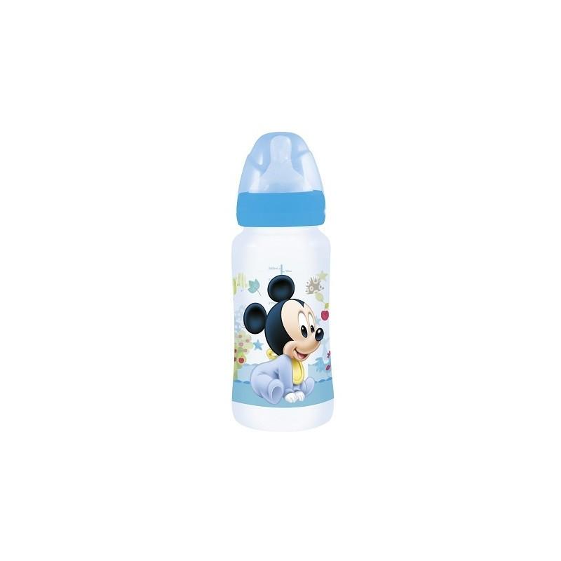 Biberón 360ML Mickey baby paint pot  Cuello ancho. 360ML Tetina silicona 3 posiciones libres de BPA