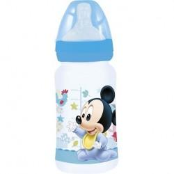 Biberón 240ML Mickey baby paint pot Tetina silicona 3 posiciones
