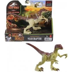 Jurassic World Velociraptor fuerza feroz Cam Cretaceous Dinosaurio articulado Mattel GWN32