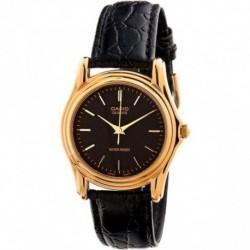 Reloj Casio señora LTP-1096Q-1A correa y esfera negra armi dorado