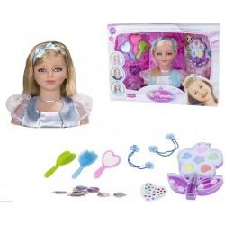 Tu princesa busto muñeca habladora con maquillaje Rosa Toys