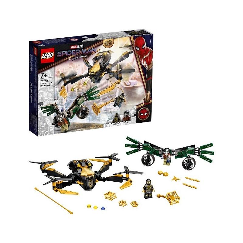 Lego Marvel Super Heroes 76195 Duelo del Dron de Spider-Man