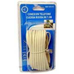 Cable conexión teléfono de 7,5 metros