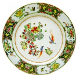 Plato porcelana china artesania 10cm
