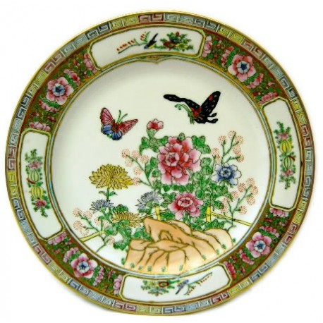 Plato porcelana china artesania 26cm