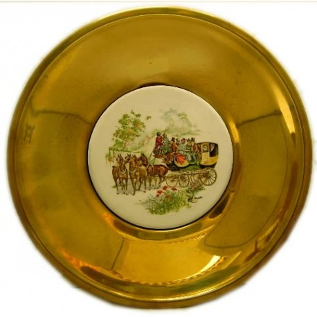 Plato decoración dorado 18cm