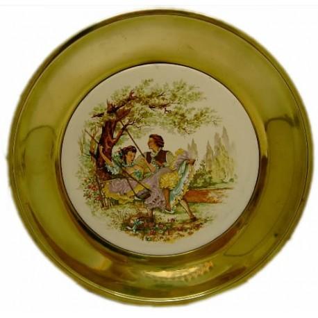 Plato decoración dorado 23cm