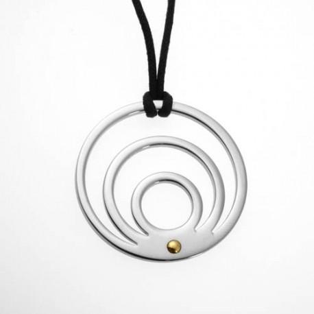 Colgante de acero circulos interiores mod.CJD-40