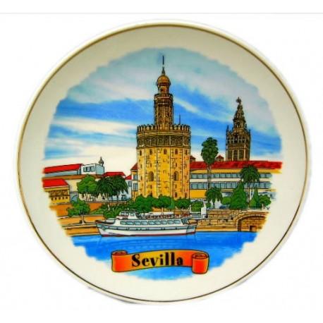 Pláto recuerdo de Sevilla Torre del Oro