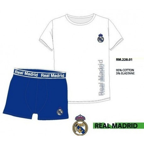 Set interior Real Madrid camiseta y boxer niño