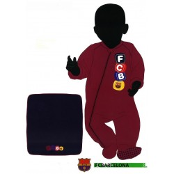 Pelele polar y mantita del FC Barcelona