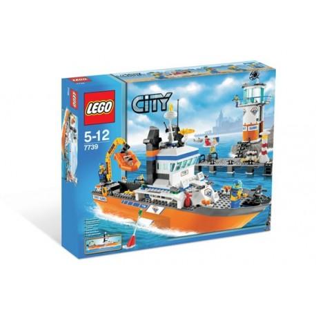 Lego 7739 city Barco patrulla y faro.