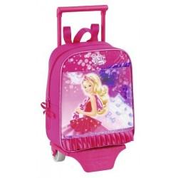 Mochila guardería Barbie 27cm con carro