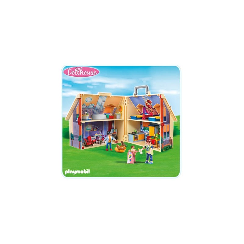 Playmobil 5167 casa de mu ecas malet n comprar playmobil - Playmobil casa de munecas carrefour ...