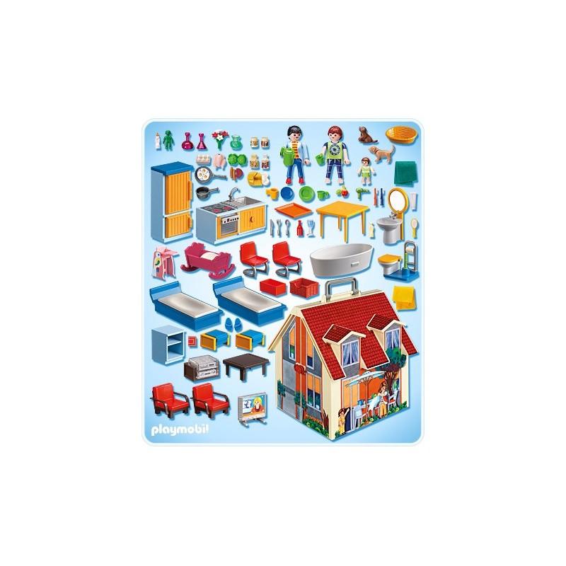 Playmobil 5167 casa de mu ecas malet n comprar playmobil - Gran casa de munecas playmobil ...