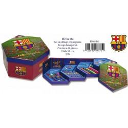 FC Barcelona Set dibujo Hexagonal 46 piezas