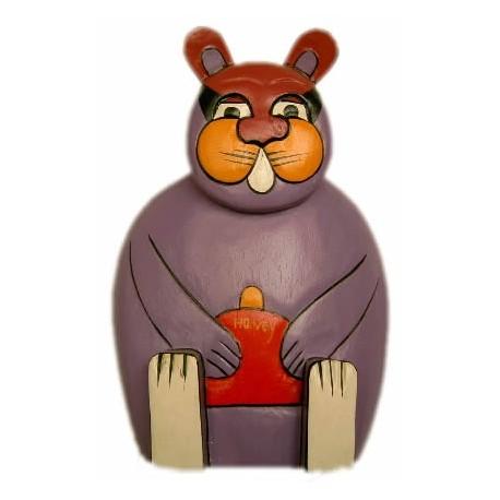 Conejo de madera decorativo