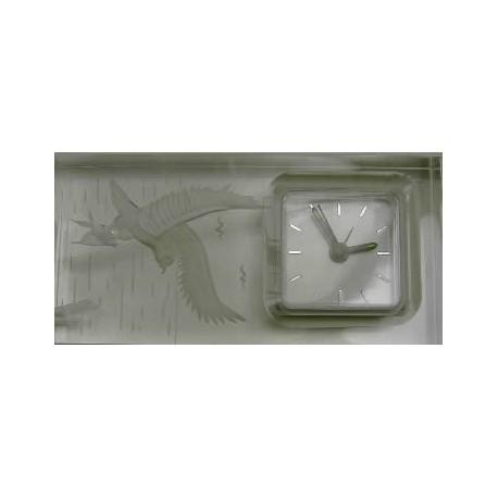 Reloj despertador metacrilato dibujo aguila