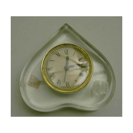 Reloj metacrilato foma corazón