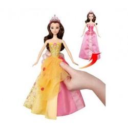 Muñeca Princesa Bella vestido mágico