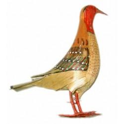 Pájaro de esparto cuello rojo