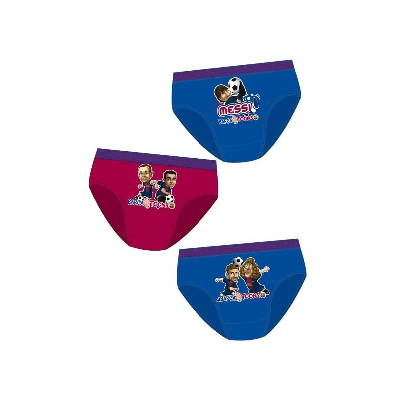 Pack 3 calzoncillos slip en caja regalo de FC Barcelona FCBARCELONA ... 25cd309d7e8