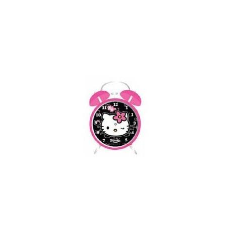 Despertador Hello Kitty esfera negra