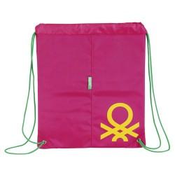 Saco plano Benetton rosa
