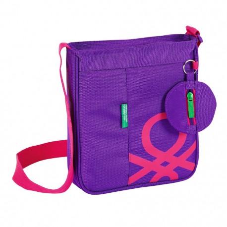 Bolsito bandolera Benetton púrpura