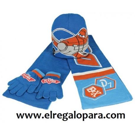 Gorro guantes bufanda Planes Disney Dusty - Tienda de productos oficiales