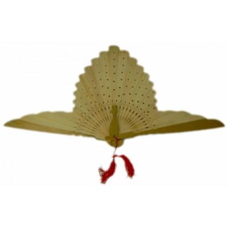 Abanico forma pavo real