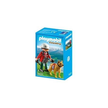 Playmobil 5431 Rescatador de Montaña con Perro