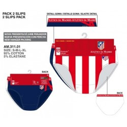 Pack 2 Calzoncillos Slip Atlético Madrid Adulto