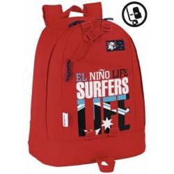 Mochila El niño Life Surfers 45cm apatable a carro