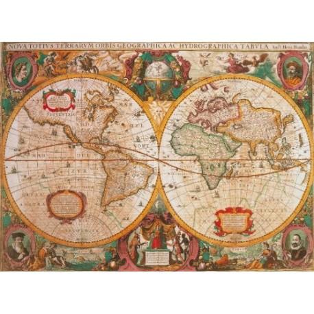 Puzzle Mapa Antiguio 1000 piezas clementoni