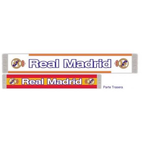 Bufanda Real Madrid con diseño a doble cara