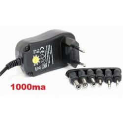 Cargador universal adaptador con selector rotativo 1000MA de AC220V a DC 3 A 12V
