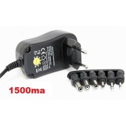 Cargador universal adaptador con selector rotativo 1500MA de AC220V a DC 3 A 12V